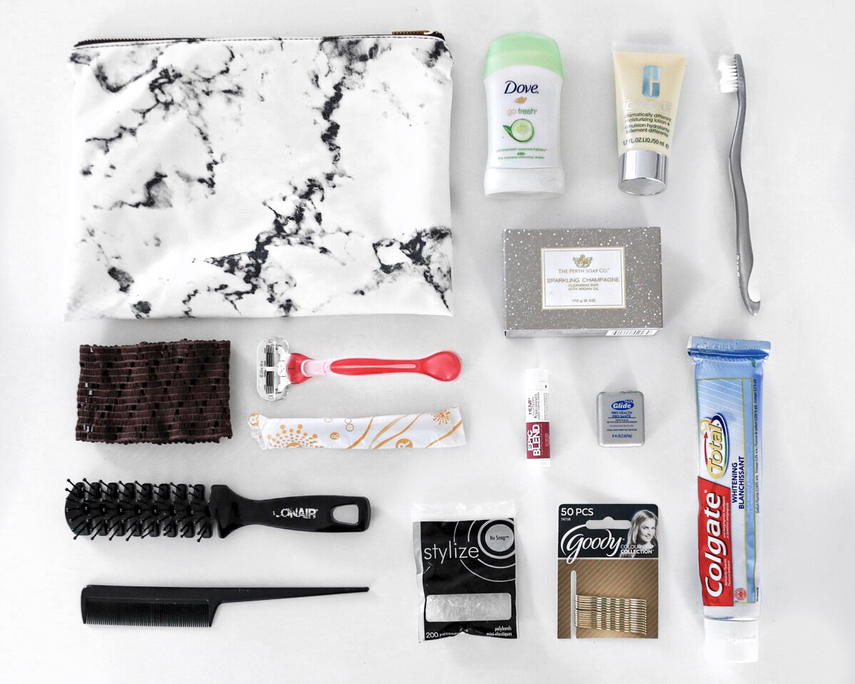 packing tips toiletries